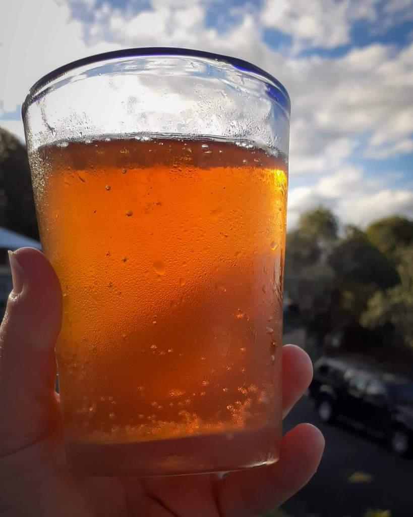A bubble glass ogf peakhams Farmhouse Cider