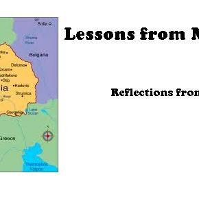 Lessons from Macedonia