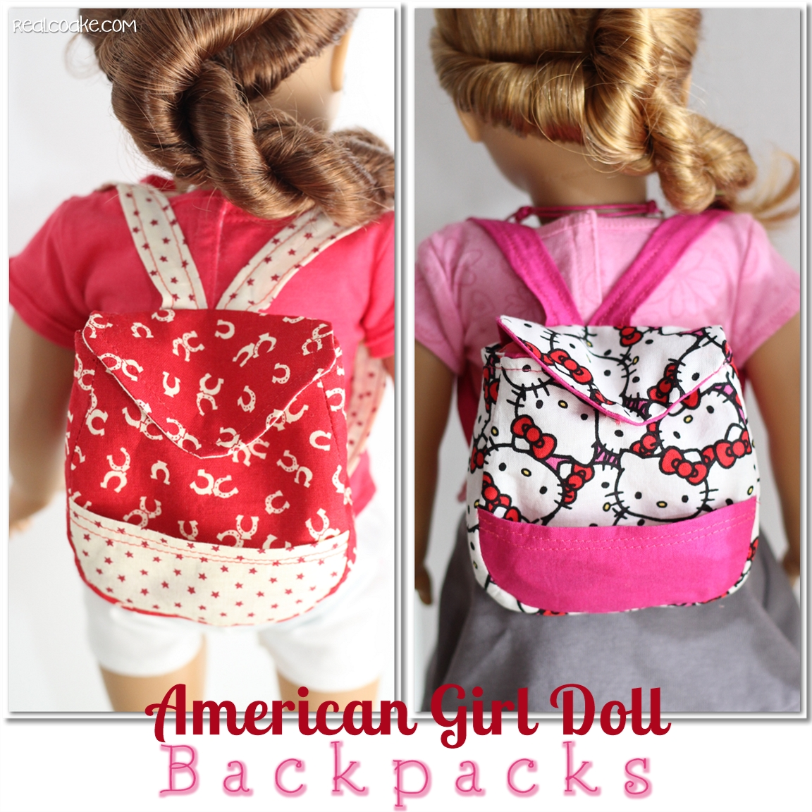 Back To School Backpacks American Girl Doll Pattern