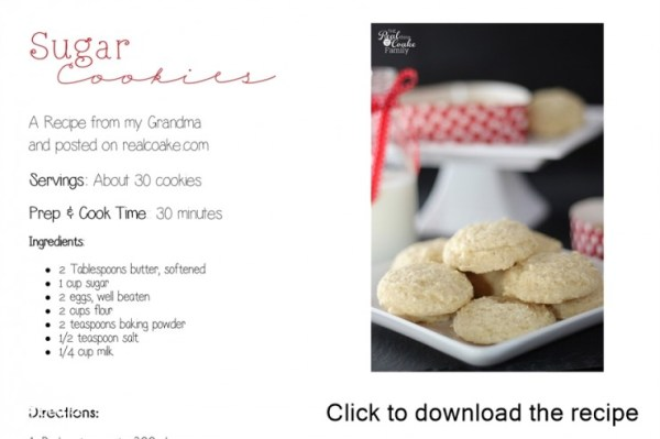 Sugar Cookies An Old Fashioned Recipe