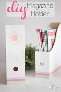 Make this Adorable DIY Magazine Holder