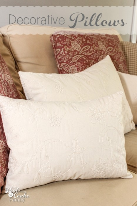 Fall Decorative Pillows  Pattern and Tutorial