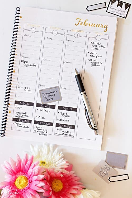 2017 Real Organized Printable Calendar / Planner