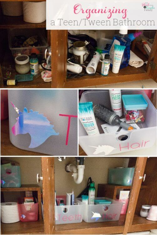 Bathroom Organization Tips for Kids Bathrooms with a Cute