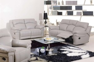 White Leather Recliners Sofa for home interiors