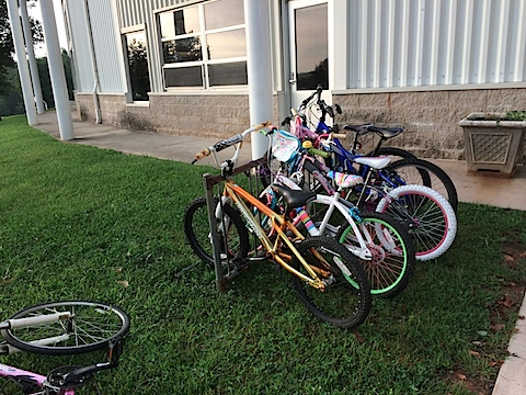 Riding Bikes to Crozet Elementary