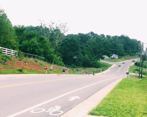 walkers and riders on Jarmans Gap in Crozet