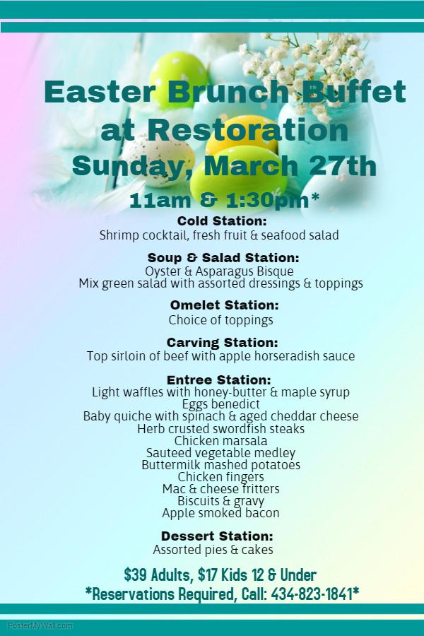 Easter Brunch Buffet Long Island