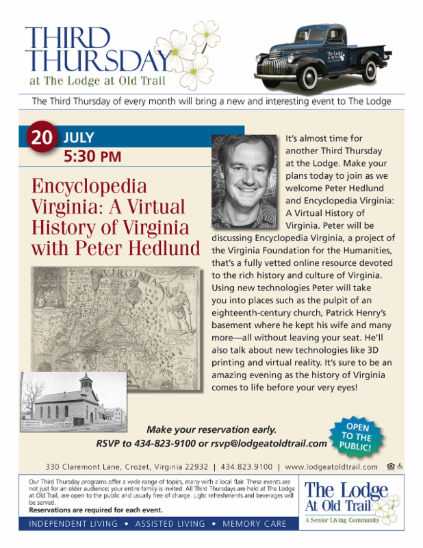 Third Thursdays Lodge Virtual History