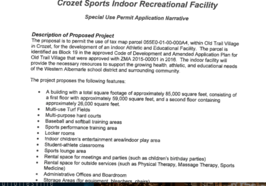 Crozet Sports Indoor Recreational Facility