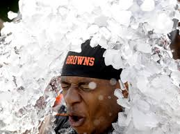 I came to realize that Browns fans take the Ice Bucket Challenge EVERY.  SINGLE. SUNDAY.  #donatetocleveland