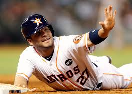 Jose Altuve(HOU) asks for time, as he admires his 54.8pt league leading week.
