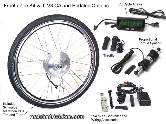 Advanced eZee 48 Volt Front Wheel Electric Assist Bicycle