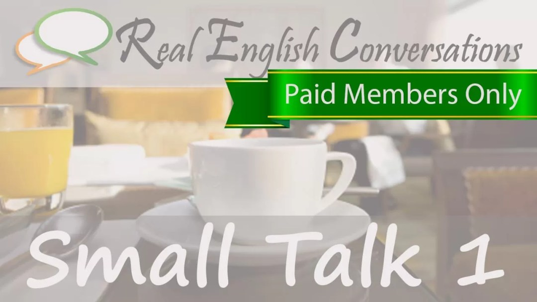 english conversations about small talk