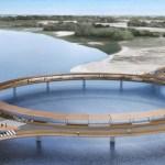 New Bridge Lake Garzon in Rocha, Uruguay