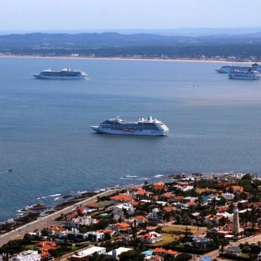 Cruise ship in Punta Del Este, Uruguay
