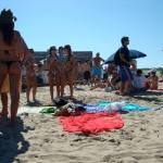 Young people on the beach of jose ignacio