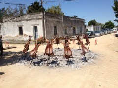 Quality Meat in Uruguay cooked on the street
