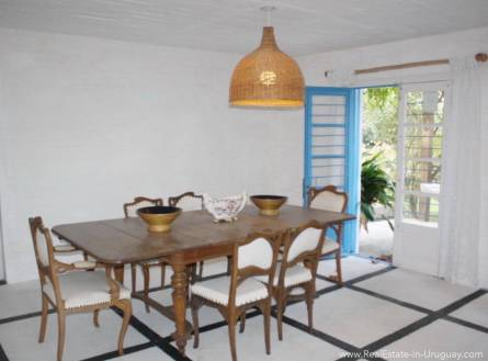 Romantic House in La Bara Dining Area