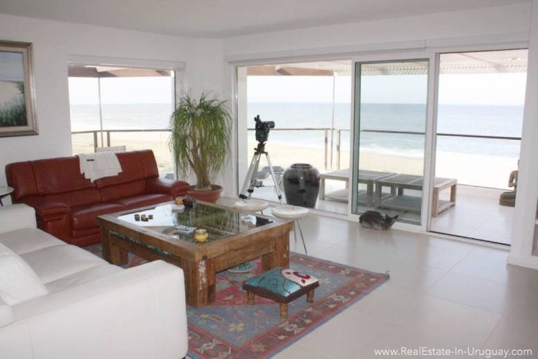Ocean Front Apartment - Living Room