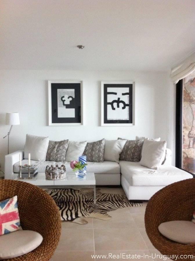 Sea View Apartment - Living Room