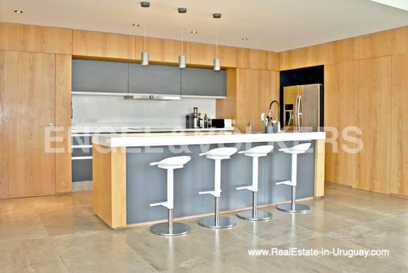 Kitchen of Modern Home in the Gated Community Altos De La Tahona near Montevideo