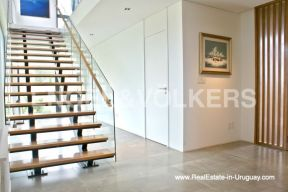 Stairs of Modern Home in the Gated Community Altos De La Tahona near Montevideo