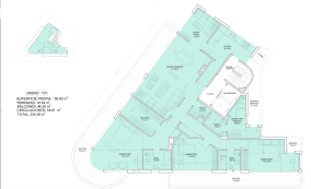 Floorplan of New Apartments by the Golf Course in Punta Carretas in Montevideo