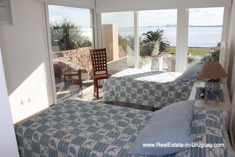 Guest Bedroom of Ocean Frontline Home in Punta Ballena near Punta del Este