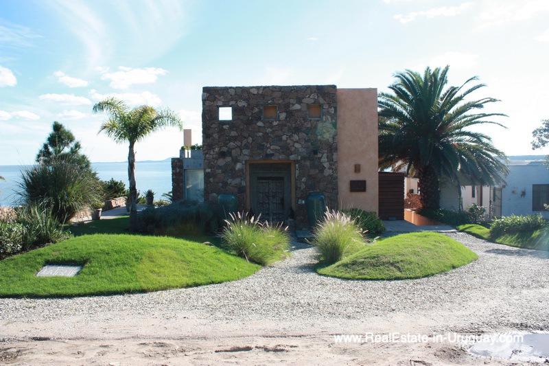 Front of Ocean Frontline Home in Punta Ballena near Punta del Este