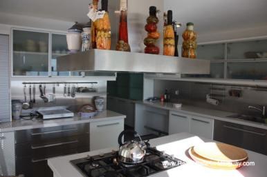 Kitchen of Ocean Frontline Home in Punta Ballena near Punta del Este