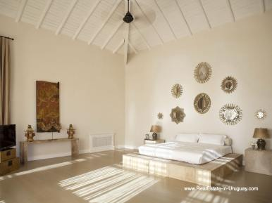 Guest Bedroom of Luxury Country Ranch by Golf Course La Barra outside Punta del Este