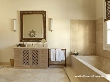 Bathroom of Luxury Country Ranch by Golf Course La Barra outside Punta del Este