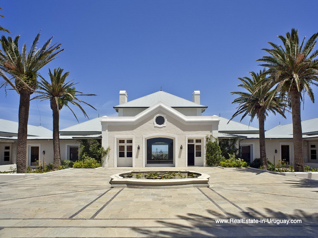 Entrance of Luxury Country Ranch by Golf Course La Barra outside Punta del Este