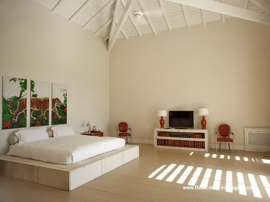 Master Bedroom of Luxury Country Ranch by Golf Course La Barra outside Punta del Este
