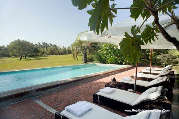 Pool and Deck of Country Style Ranch near the Golf Course of La Barra on 35 Hectares