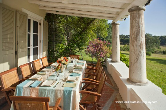 Terrace of Country Style Ranch near the Golf Course of La Barra on 35 Hectares