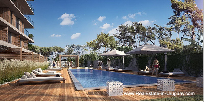 Pool of New Apartment Project Alma de Manantiales by Architect Martin Gomez in Manantiales