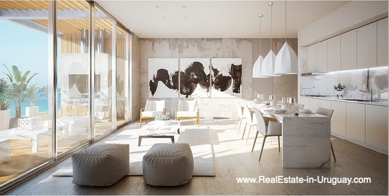 Dining of New Apartment Project Alma de Manantiales by Architect Martin Gomez in Manantiales