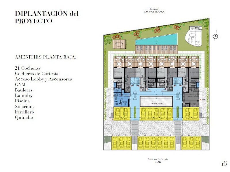 Plan of New Apartment Project Alma de Manantiales by Architect Martin Gomez in Manantiales