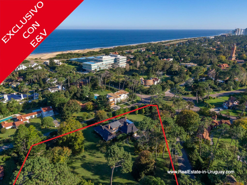Areal View of Large Property in the El Golf Area in Punta del Este