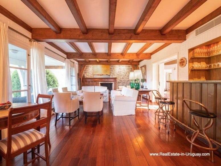Living Area Magnificent House in El Golf in Punta del Este