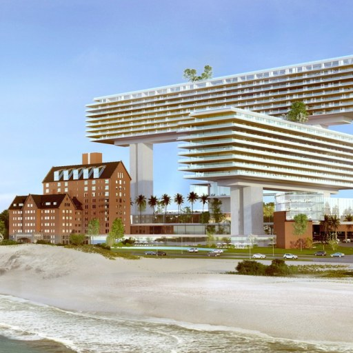 Rendering of The new Cipriani Project done by Architect Rafael Vinoly in Punta del Este