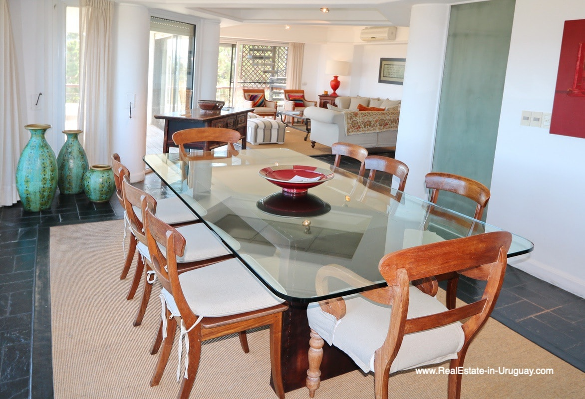 Dining Room of Penthouse with Ocean Views on Brava in Punta del Este