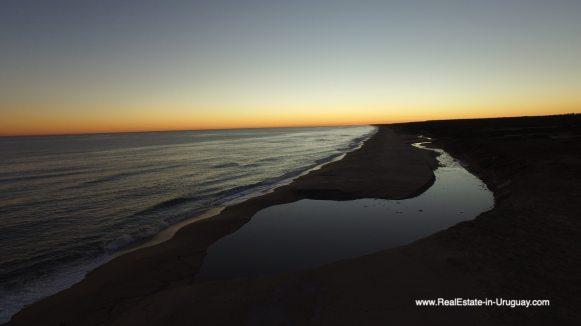 Sunset of Las Carcavas, Rocha