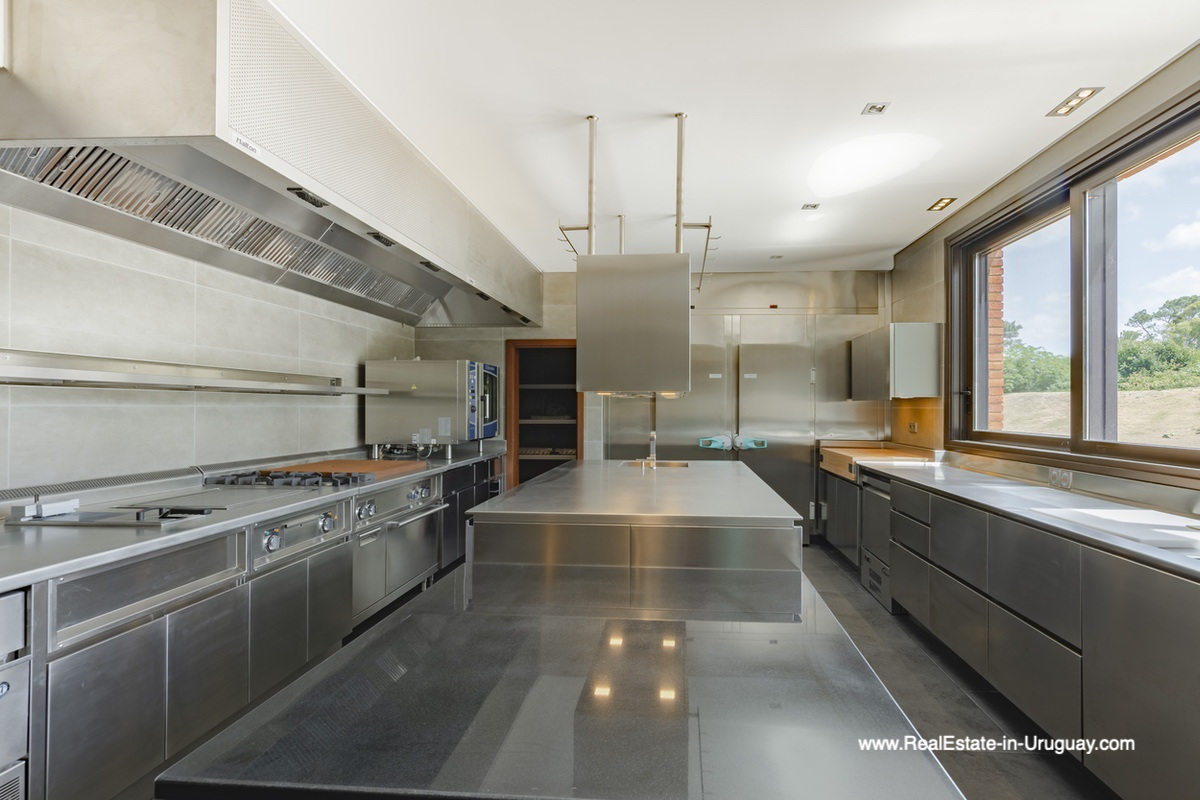 Kitchen of High-Tech State of the Art and Modern Estate on the Brava Beach in Punta del Este with a large Garden