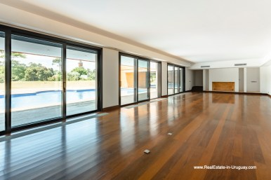 Living Area of High-Tech State of the Art and Modern Estate on the Brava Beach in Punta del Este with a large Garden