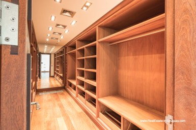 Walk-in Closet of High-Tech State of the Art and Modern Estate on the Brava Beach in Punta del Este with a large Garden