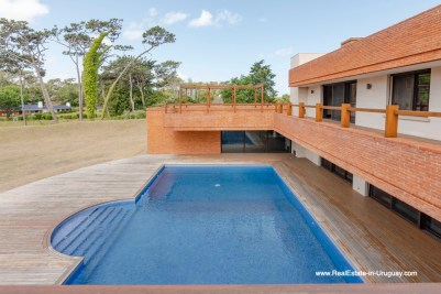 Pool of High-Tech State of the Art and Modern Estate on the Brava Beach in Punta del Este with a large Garden