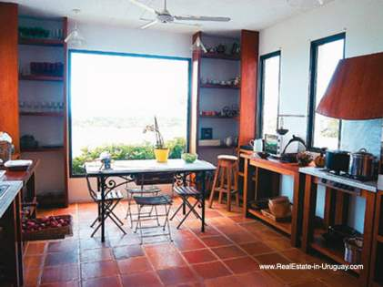 Kitchen of House on the Beach near Punta Ballena